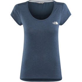 The North Face Inlux S/S Top Women Blue Wing Teal Dark Heather
